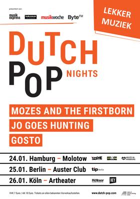 Bild: Dutch Pop Nights - Mozes And The Firstborn, GOSTO, Jo Goes Hunting