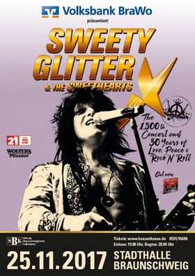 Bild: SWEETY GLITTER & THE SWEETHEARTS - The 1.500th Concert and 30 Years of Love, Peace & Rock'n'Roll