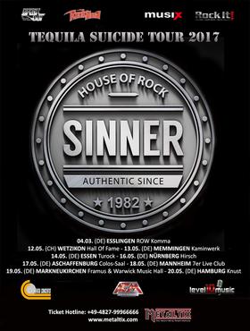 Sinner - Tequila Suicide Tour 2017