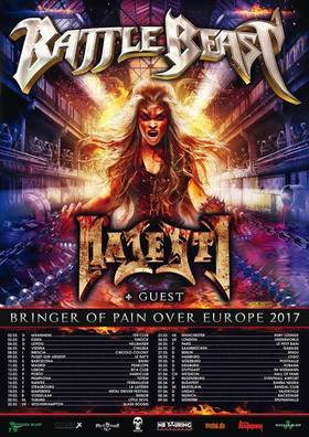 Bild: BATTLE BEAST & MAJESTY + Guest - BRINGER OF PAIN OVER EUROPE 2017