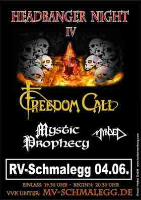 Bild: 4. HEADBANGER NIGHT Ravensburg - Schmalegg mit - Freedom Call - Mystic Prophecy - Mynded