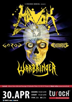 Bild: Havok, Warbringer, Gorod, Exmortus - Conformicide Europe 2017