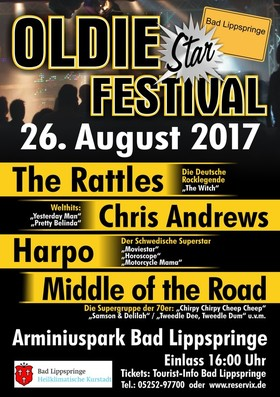 Bild: Oldie Star Festival 2017 - The Rattles, Harpo, Middle of the Road und Chris Andrews