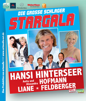 Bild: Die große Schlager Stargala - Schlager / Volksmusik mit Hansi Hinterseer, Anita und Alexandra Hofmann, Feldberger und Liane