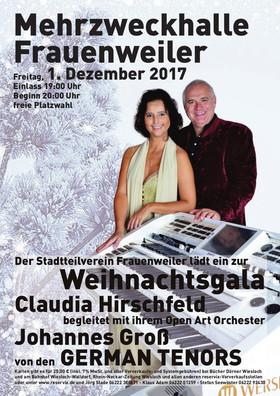 Bild: Claudia Hirschfeld - begleitet mit ihrem Open Art Orchester Johannes Groß von den German Tenors