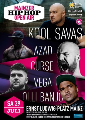 Bild: Mainzer HipHop Open Air mit KOOL SAVAS & FRIENDS - mit AZAD, Curse, Vega, Olli Banjo