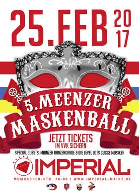 Bild: 5. Meenzer Maskenball - 2 Floors, Guggemussiger, Mainzer Ranzengarde