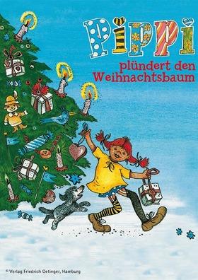 Bild: Pippi plündert den Weihnachtsbaum