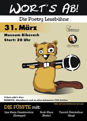 Bild: Wort´s ab! - Die Poetry Lesebühne im Museum Biberach, Die Fünfte!