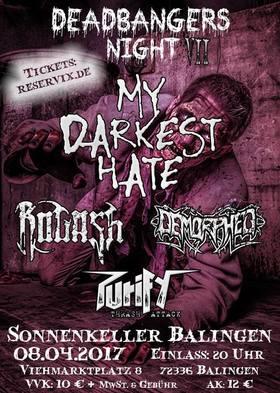 Bild: Deadbangers Night 7 - My Darkest Hate, Rogash, Demorphed,  Purify