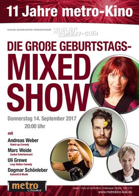 Bild: KN CLUB - DIE GEBURTSTAGS-MIXED SHOW - Weber, Schönleber,Weide, Grewe