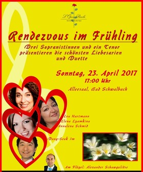 Bild: Rendezvous im Frühling - Drei Sopranistinnen und ein Tenor präsentieren die schönsten Liebesarien und Duette