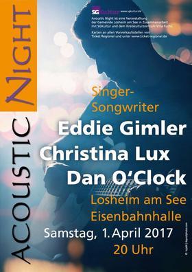 Bild: Acoustic Night 2017 - Eddie Gimler, Christina Lux, Dan O´Clock