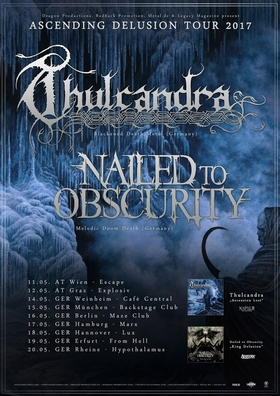 Bild: THULCANDRA & NAILED TO OBSCURITY - Ascending Delusion Tour 2017