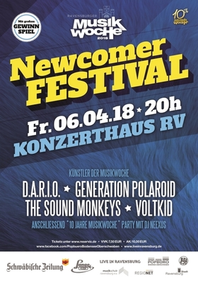 Bild: Ravensburger Musikwoche präsentiert - NEWCOMERFESTIVAL