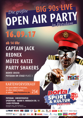 Potsdam Open Air - mit Rednex, Captain Jack, Mütze Katze DJ Team, Party Shakers, Monte Cristo, uvm. - porta Sport & Kultur Festival 2017