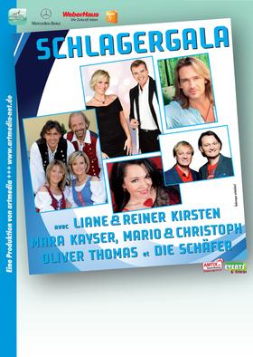 Bild: Schlagergala - Schlager / Volksmusik mit Liane&Reiner Kirsten, Mara Kayser, Mario&Christoph, Oliver Thomas, Die Schäfer