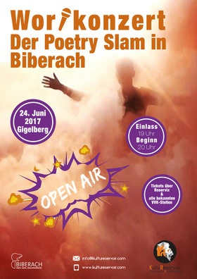 Bild: Wortkonzert Nr. 14 - Der Poetry Slam in Biberach - Open Air auf dem Gigelberg