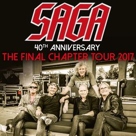 SAGA in concert - 40th Anniversary - The Final Chapter Tour 2017