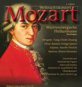 Bild: Wolfgang Amadeus Mozart - Weihnachtskonzert am 2. Advent - Dirigent: Tung-Chieh Chuang - Oboe: Ramon Ortega Quero