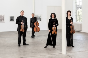 Bild: Minguet Quartett - Ulrich Isfort, Annette Reisinger, Aroa Sorin und Matthias Diener