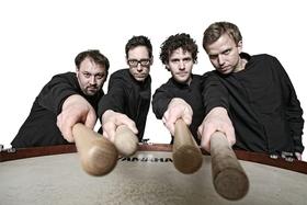 Bild: Elbtonal Percussion - Andrej Kauffmann, Stephan Krause, Sönke Schreiber und Wolfgang Rummel