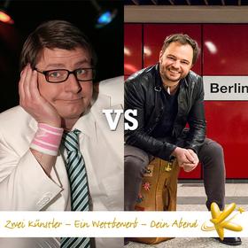 Bild: 1. Spieltag der Deutschen Kabarettmeisterschaft: Volker Diefes vs. Paco Erhard