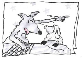 Bild: Der Wolf und die sieben Geißlein - Puppentheater Gebrüder Grimmig