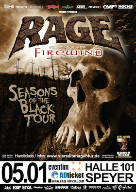Bild: RAGE + very special guest: Firewind - Seasons Of The Black TOUR 2018