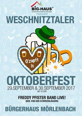 Bild: Weschnitztaler Oktoberfest - Freddy Pfister Band LIVE!
