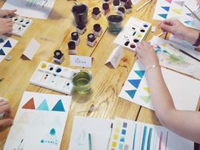 Bild: Handlettering Watercolor-Workshop