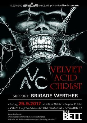 VELVET ACID CHRIST - Support:  Brigade Werther