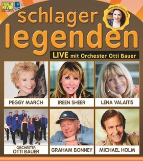 Schlagerlegenden LIVE auf Tournee - mit Peggy March, Ireen Sheer, Lena Valaitis, Michael Holm, Graham Bonney