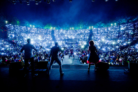 Bild: Brandenburger Taschenlampenkonzert 2018 - mit der Berliner Band Rumpelstil