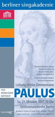 Bild: Felix Mendelssohn Bartholdy: Paulus - Oratorium für Soli, Chor und Orchester op. 36