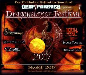 Bild: Dragonslayer Festival 2017 - mit Stormage, AvatariA, Ivory Tower, Mortal Peril, DANTE und Different Steel