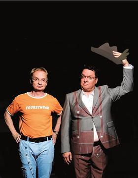 Bild: Uwe Steimle und Helmut Schleich - Mir san Mir.... und mir ooch!