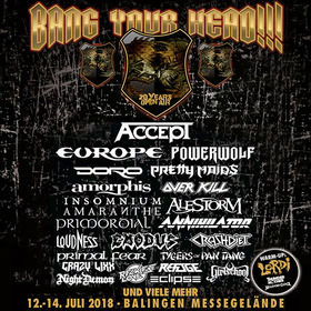 Bild: Bang Your Head!!! Festival 2018 - Festivalticket