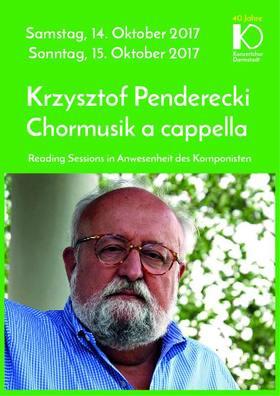Bild: Krzysztof Penderecki Chormusik a cappella