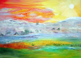 Bild: Farbe, Licht und Lebensfreude - Ausstellung der Cölner Innovative-Malerei-Initiative
