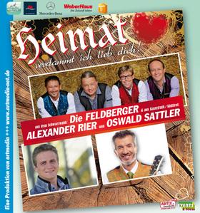 Bild: Heimat - verdammt ich lieb´ dich! - Konzert mit Oswald Sattler, Alexander Rier und den Feldbergern