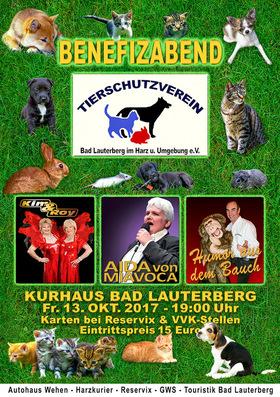 Bild: Benefizveranstaltung Tierheim Bad Lauterberg im Harz und Umgebung e.V. - Kultur & Komik: Ein tierisch guter Abend