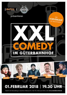 Bild: XXL COMEDY IM GÜTERBAHNHOF - Pfäfflin, Bender,Tahnee, Clarke,Weide