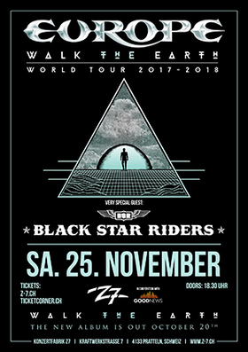 Bild: EUROPE -  Walk The Earth Tour - + Very Special Guest: BLACK STAR RIDERS