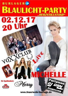 Bild: Burlager Blaulicht-Party´17 - MICHELLE - VOXXCLUB - MARRY