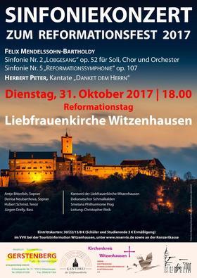 Bild: Mendelssohn, Sinfonien Nr. 2 (Lobgesang) und Nr. 5 (Reformation) / Peter: Danket dem Herrn