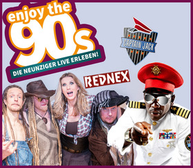 Bild: Enjoy the 90´s - Live on Stage: Captain Jack, Rednex, John Davis (Voice of Milli Vanilli)