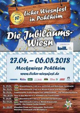 Bild: 10. Licher Wiesnfest Pohlheim - 1. FFH - Wiesnhitnacht mit Münchner Zwietracht, voXXclub und Mickie Krause