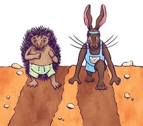 Bild: Hase und Igel - Gebrüder Grimm