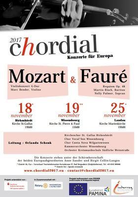 Bild: Chordial 2017 - grenzüberschreitendes deutsch-französisches Musikprojekt